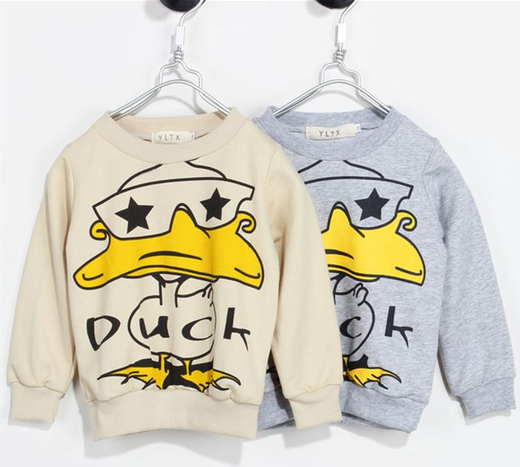 2014 New Spring Winter Children's Clothing Baby Hoodies kids Sweatshirts Duck Free Shipping(China (Mainland))