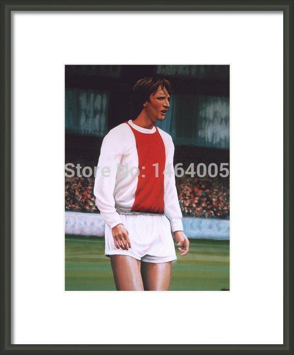 Soccer Stars Johan Cruijff Printed Oil Painting Free Christmas Gift (Jersey)(China (Mainland))