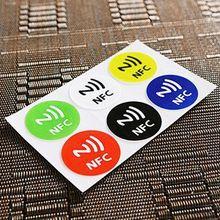 nuovo arrivo universale 6 pz impermeabile nfc tag adesivi etichetta adesiva rfid per samsung iphone 6 plus con il prezzo basso(China (Mainland))