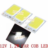 Freeshipping!10pcs/lot 1.2W 130LM 12V COB LED Car  Light  12V Module Cool White 6500K Warm White 3000K for DIY