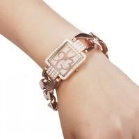 2014 New Fashion Women Dress Watches Rose Gold  Ladies Diamond Wristwatches 86011