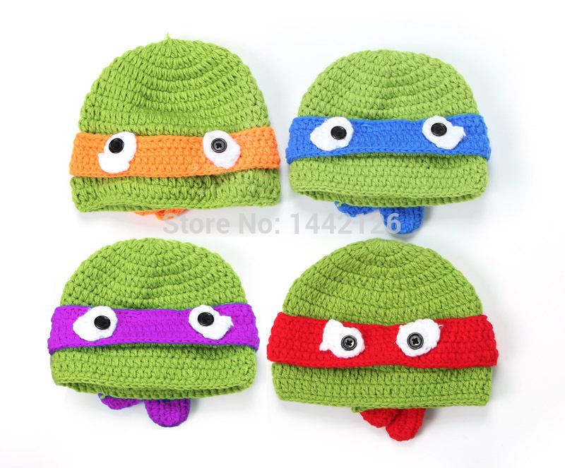Newborn Cartoon Handmade Knitted Beanie Cap Toddler Winter Hat Thanksgiving Day Gift New Hot Sale God turtle Design Crochet Hat(China (Mainland))