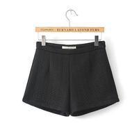 European and American fashion new winter plaid cotton jacquard pants shorts shorts female 92610
