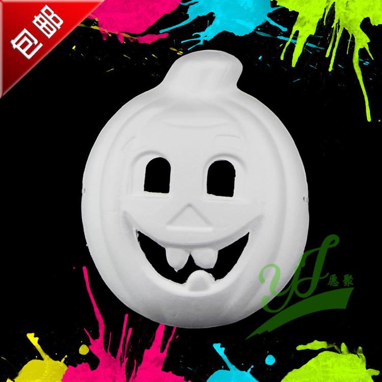 Halloween pumpkin eco-friendly pulp mask tofo mask pumpkin mask(China (Mainland))