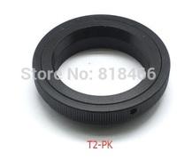 Free shipping T2-PK T mount Lens to Pentax K Mount PK Adapter For K3 K5 K5II K7 K100D KM K20D KM KR T-PK T2-PK