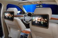 one pair 9 inch hd headrest car dvd with digital panel  games IR FM USB SD