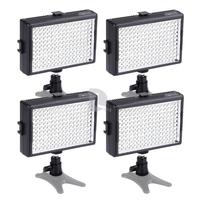 4x Sevenoak SK-LED160B 6000MCD 160pcs 5500K Dimmable LED Video Light Photography Lamp for Canon Nikon DSLR Camera Camcorder