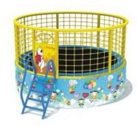 kids round trampoline with safety net