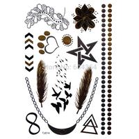1pc/lot/TJ014,Temporary Tattoo Glitter/Necklace,Chain,Bracelet/waterproof Gold Silver fake tatoo Sex body art/Christmas gift/CE