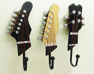 Vintage Coat hooks cloths wall clothes hook home decoration guitar wall hook wall key hanger decorative(China (Mainland))