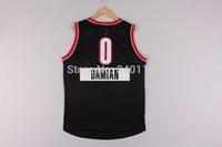 Free Shipping,2014 - 2015 Christmas Edition basketball jersey #0 Damian Lillard Christmas basketball jersey