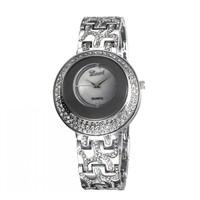 Hot Selling Fashion Ladies Silver Diamond Quartz Analog Wrist Watches 3 Colors 86019