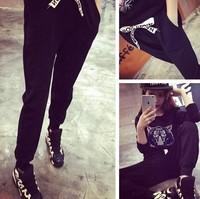* Panda * 2014 Korean version of the new fall was thin wild casual harem pants pants trousers