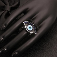 2014 New Arrival R021-C Fashion Exaggerated vintage style with a beautiful eye design gem rings charms Jewelry
