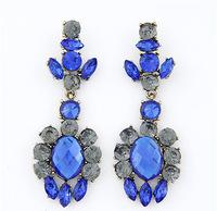 2014 Vintage Fashion Crystal Dangle Earrings For Women Chandelier Earrings bijoux women brincos christmas gifts EH0171