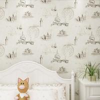 European Castle Retro Mural  for Children  Baby Boy Room Wall Paper Roll Decor Kids boys bedroom wallpaper