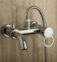 Bathroom Mixer Bath Tub Copper Mixing Control Valve Wall Mounted Shower Faucet Set