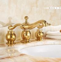 Luxury Widespread 8-inch Deck Mounted Bathroom Basin Faucet Dual Handles 3pcs Bath Tub Set Faucet