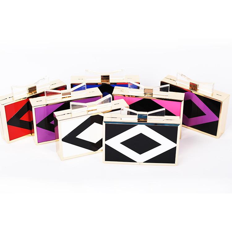 2015 Hot Selling Fashion Perfume Bag Bottle Shape Fahion Colorful Acrylic Clutch Perspex Evening Bag Nameplate Shoulder Box Bag(China (Mainland))