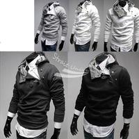 Men's Slim Designed Fitted Hoodies Coat Jacket Sweatshirt 4 Color 4 Size