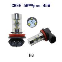 2015 Free shipping 2pcs/lot H8 9CREE 45W high power super bright led fog light headlamp for New Chevrolet Cruze New Sail Lova
