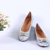 Free drop shipping summer new fashion Comfortable leisure bowknot Round toe women's Ballet women flats shoes