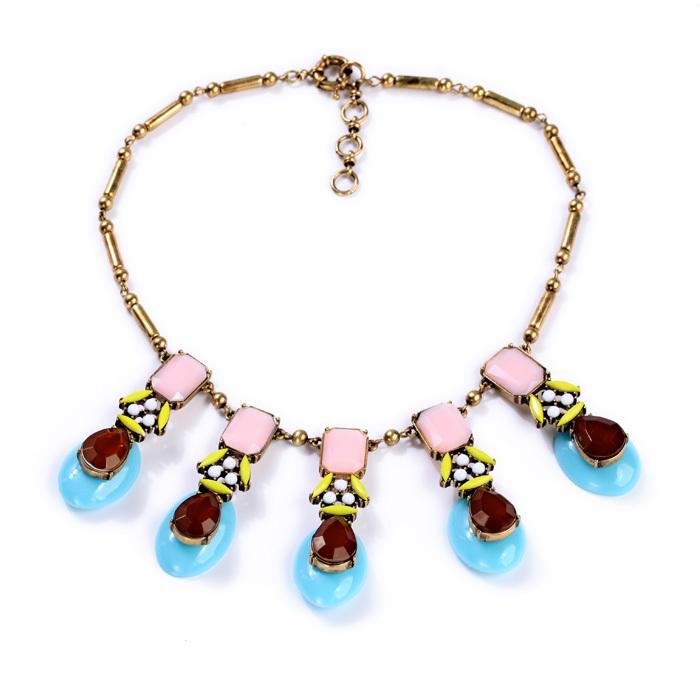 New Design Jewelry Friendship Hot Sale Parfumes Women Necklace Colored Feminine Love(China (Mainland))