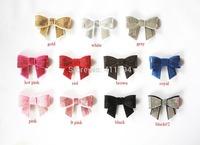 DHL Free shipping 150 pcs/ lot , hair bows  , headband bows , infant  headband bows  , sequin bows