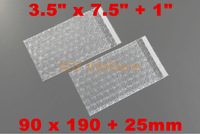 "GREAT BULK PRICE 100 Self Seal Bubble Envelopes Bags 3.5"" x 7.5""+1""_90 x 190+25mm for Cellphone Mobile Phone Cover Cases Packing"