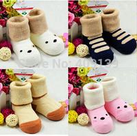 2014 winter new Socks children 0-3 years old cotton socks  baby terry socks Thicken warm nap boys girls sock