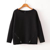 Fall  new European wave a shirt bat double zipper sweater female loose long-sleeved shirt 0084
