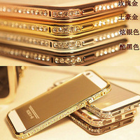 """New Diamond Aluminum Metal Frame Bumper Phone Case Cover For iPhone 5 5s 6(4.7"""")"""