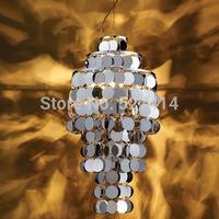 50% off European Kadi Sen art modern minimalist living room dining room chandelier lighting stainless steel bumper bar