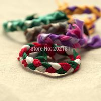 Braid hair bands 100pcs/lot Ribbon Elastics Hair Bands-Girls Hair Accessories Emi Jay Like Elastic Yoga Leopard  Hair Ties