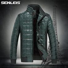 Plus Size M-XXXL 2014 Winter Men's Winter Jacket Cotton-padded Down Brand Jacket Casual Slim Black Coat Jacket Park SLS-S1201 (China (Mainland))