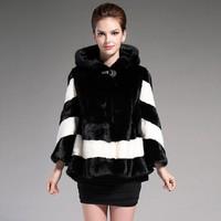 New 2014 Winter Fashion High Quality Whole Mink Fur Coat Women Import Leisure Shitsuke Mustela Vison Schreber Coat Free Ship