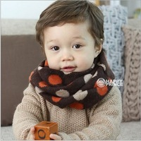 1PCS New Fashion Children Dot Scarf Loop Kids Scarves Baby Accessories Ring Neck Warmer Scarf Gift  #1225