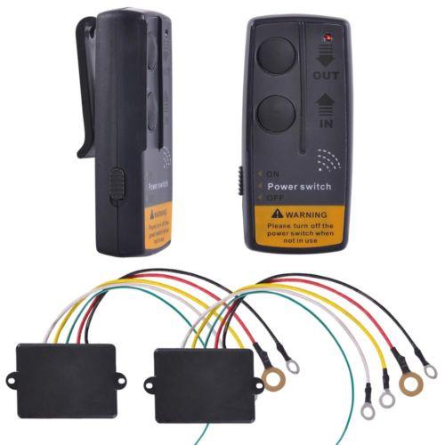 2X 12V 65' Winch Wireless Remote Control Switch Kit ATV SUV UTV Car Trailer 4x4(China (Mainland))