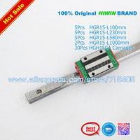 100% original HIWIN BRAND HGR15 Rail 1000mm 580mm 230mm + HGH15CA carriages