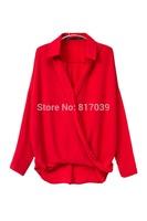 Free shipping cross V-neck T-shirt female Japanese kimono sleeved shirt