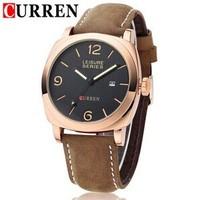 Top Luxury Brand CURREN 8158 Military Men's Watch Sports Quartz Men Watches Leather Strap Wristwatches Fashion Clock Hours SB7