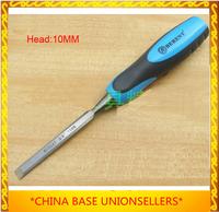 Free shipping high-quality chisel knife vanadium steel flat chisel woodworking carpenter's tool head 10MM