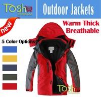 2014 New Outdoor Climbing Windbreaker Clothes Fashion Men Sports Coat Winter Warm Waterproof Men's Skiing Jacket Free Shipping
