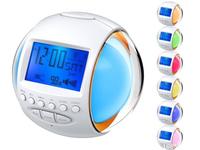 New Nature Sound FM Radio Alarm Digital Clock With 7 Color LED Lighting Calendar