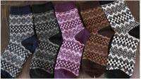 F10927-5/F10931-5 5 Pairs Winter Warm Thick Socks Rabbit Wool Socks For Women Lady