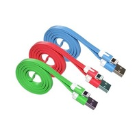 Tracking number+1M/3FT Flat sync Data Cables USB Charge Charging Charger Cable For iPhone 5 5s 6 Carregador Cabo