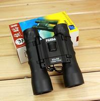Genuine outdoor fun & sports Panda 22x32 fold scope tourism binoculars HD high-powered binoculars night vision blue film