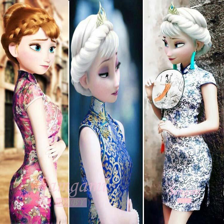 New baby girl dress Chinese style girl summer Cheongsam kids Chinese ...