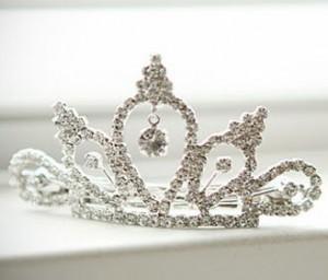 2014 new Korean fashion super fine hair accessories hairpin side clip Rhinestone Crown(China (Mainland))