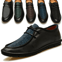 free shipping spring and autumn  popular male business casual leather genuine  causal  shoes low-top lace-up five colors